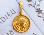 Medal - Saint Mary Magdalene 18K Gold Vermeil Medal - 17.5mm