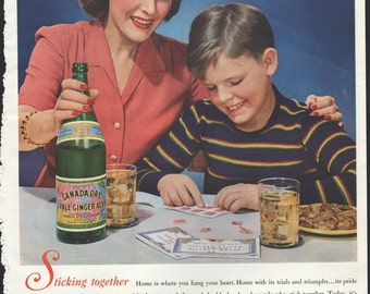 SEP 1940s canada dry ginger ale