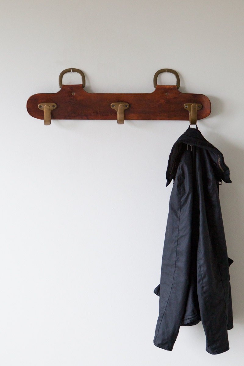 Mid Century Modern Leather Coat Rack