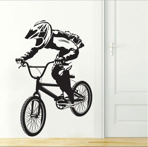 Bmx Art Wall Decal Stickers Bike Boys Room Decor Bicycle Vinyl