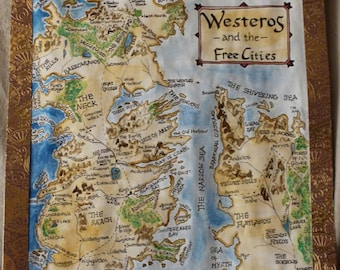 THE WORLD OF MAP GAME OF THRONES