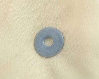 Donut - Angelit - gemstone jewelry sky blue