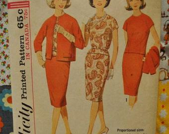 Vintage Simplicity Pattern Skirt,Blouse,Jacket
