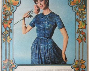 1965 Shelton Stroller Dress Vintage Advertisement Bedroom Wall Art Womens Fashion Boutique Decor Original Magazine Print Ad Paper Ephemera