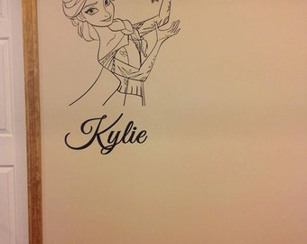 Personalized Frozen Elsa Inspired Interior Vinyl Wall Decal   Made Custom  For You.