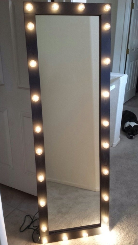 Items Similar To Full Length Lighted Vanity Mirror On Etsy