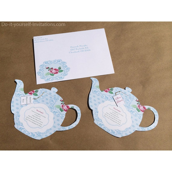 Printable Tea Party Invitation Bridal Tea Party Invitation - Bridal tea party invitation template