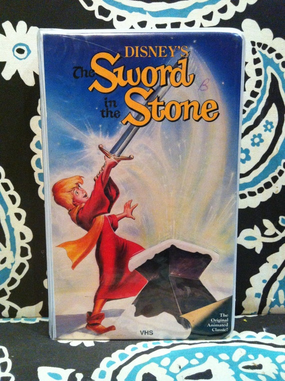Items similar to Sword in the Stone VHS, Disney Diamond ...