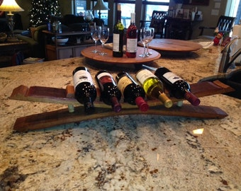 Oak Wine Stave wine rack -