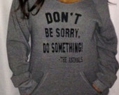 Eco Fleece Off the Shoulder Sweatshirt – Don't Be Sorry, Do Something! - The Animals