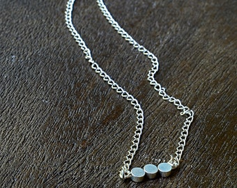 Tiny Triple Circle Necklace,Simple Necklace,Delicate Necklace