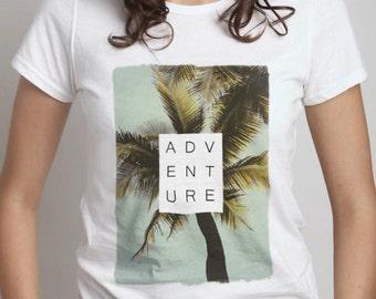 Women's Palm Trees Adventure Printed T-Shirt