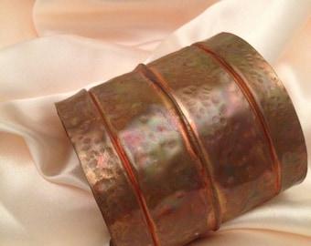 copper massive and beautiful foldform cuff