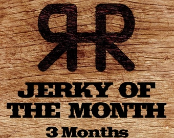 Jerky of the Month - 3 Month Subscription, Gourmet Hand Carved Artisan,Gift for Men
