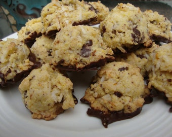 Chocolate Coconut Biscotti - Chocolate Biscotti - Biscotti Bites - Gift for Her - Coconut Biscotti - Italian Biscotti Valentines Day (1 Doz)