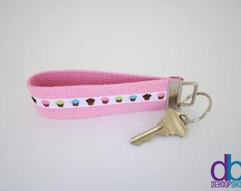 Cupcake Key Fob in Pink