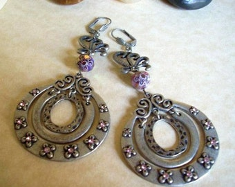 Antique Pewter Earrings