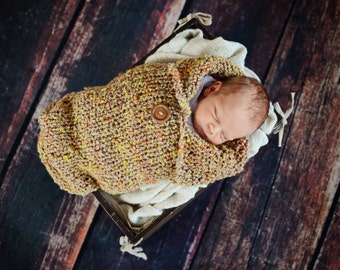 Hand Knit Newborn Cocoon Photo Prop