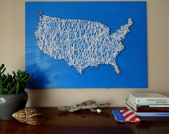 England Map String Art Reclaimed Wood Wooden Wall Art - Us road map wall decals