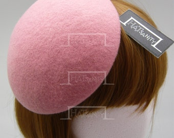 TRENDY x CUTE Fashion Plain Wool Felt Mini Beret Fascinator - Pink