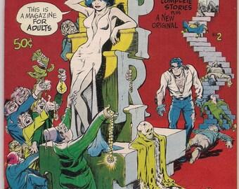 The SPIRIT # 2 WILL EISNER Kitchen Sink 1972 Black & White Newspaper 1946 Spirit Sections + New Story