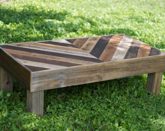 Reclaimed Wood Chevron Coffee Table (Local Pickup Only)