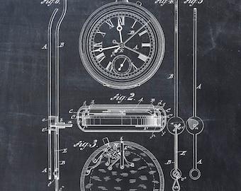 Patent Print of a Stopwatch Patent Art Print Patent Poster