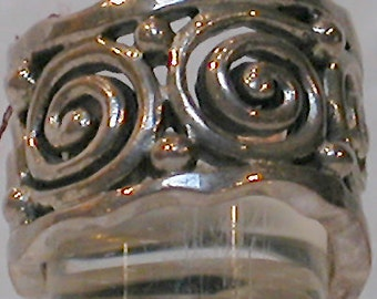 "French Ring ""Swirls"" Silver"