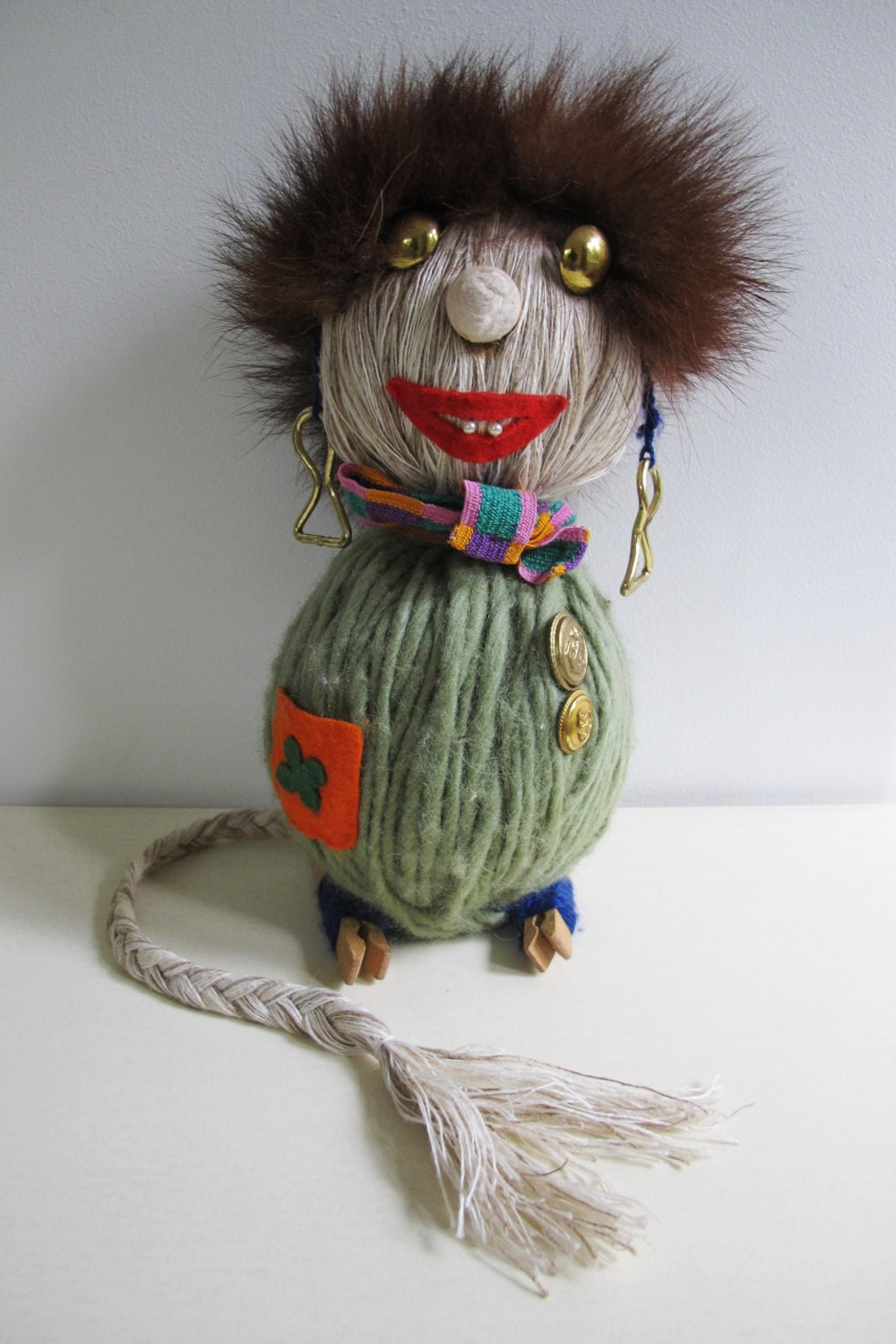 Vintage Troll Doll Swedish Hand Made Troll Decoration From