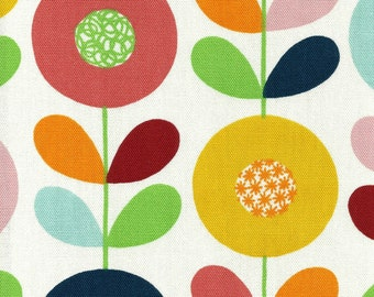 Scandinavian Fabric - Cirkelblomma by Kinnimark - vintage 50s 60s inspired print DIY cushions curtains patchwork etc