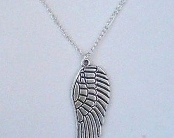 Angel Wing Necklace , Silver Angel Wing Necklace , Silver Necklace , Angel Necklace , Handmade Jewelry , Gothic Jewelry , Gothic Necklace