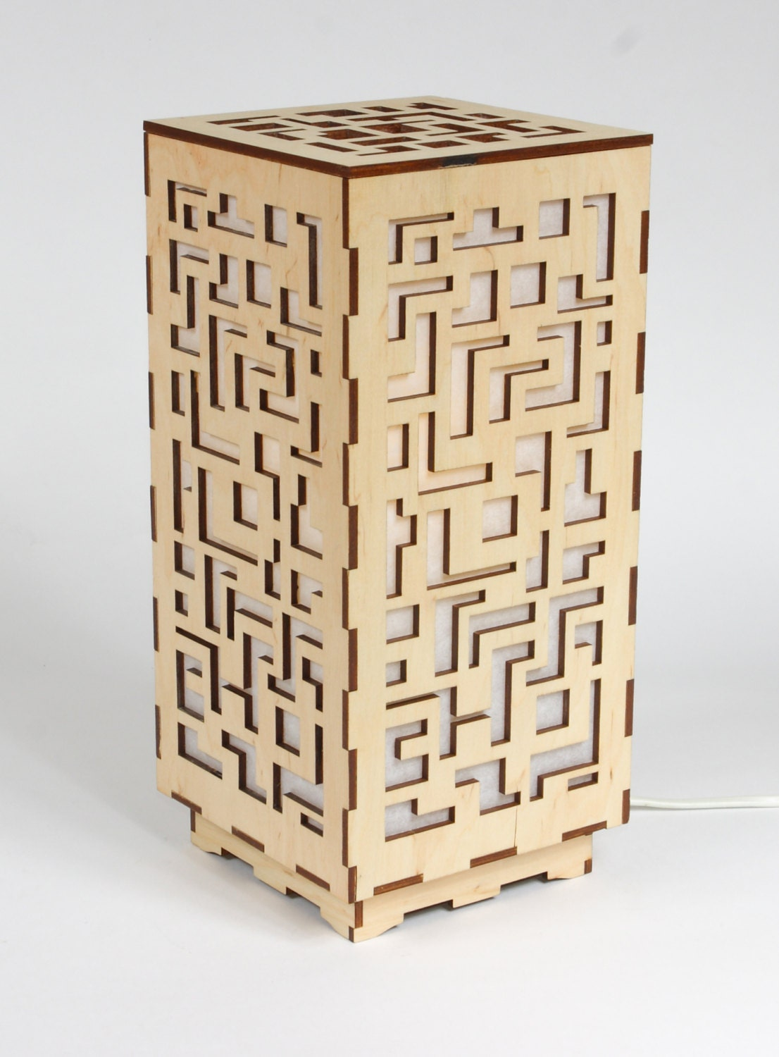 White table lamp - Wooden Lamp Decorative Lamp Laser Cut Wood Lamp Table