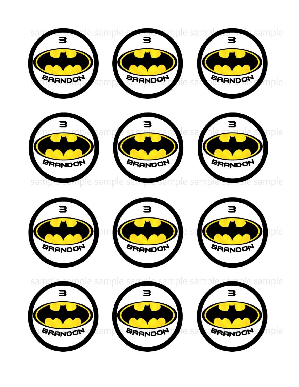 Batman 2 Cupcake Topper Printable Digital Super