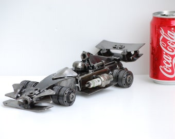 metal sculpture Formula One F1 Model Recycled Handmade Art Gift for Anniversary Birthday Christmas Wedding