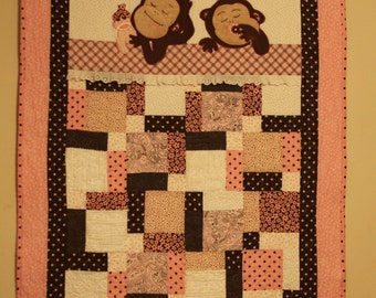 Sleeping sock monkey | Etsy : monkey quilt pattern - Adamdwight.com