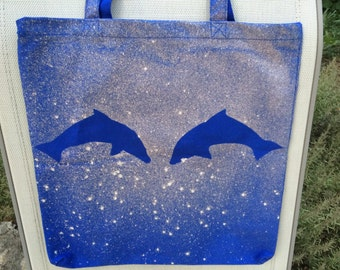 Dolphin Bleach-Art Tote Bag