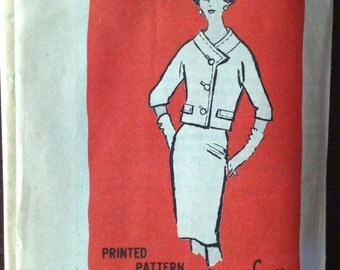 Don Loper M410 Pattern - 1950s Two Piece Skirt and Jacket - Size 10