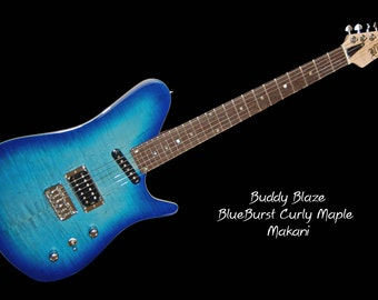 Buddy Blaze Blueburst Makani Custom Deluxe --  6 string electric guitar