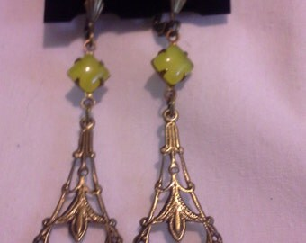 Victorian  Inspired Drop Earrings = E110