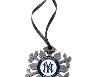 New York Yankees Snowflake Christmas Ornament