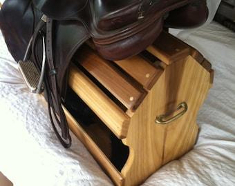 Equestrian Saddle Rack and Tack Storage for English Saddle - Free Shipping