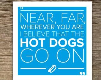 Hot Dogs - Misheard Lyrics Blank Greetings Card