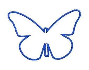 Embroidery Design Pattern Applique Butterfly Outline File Instant Download