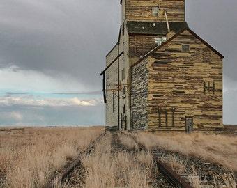 Abandoned Grain Elevator 1 - Wildlife Animal Nature Photography from Alberta, Canada