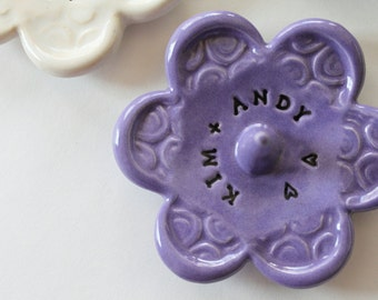 Customized for You, Clay Ring Dish,  Great for Engagement, Wedding or Anniversary