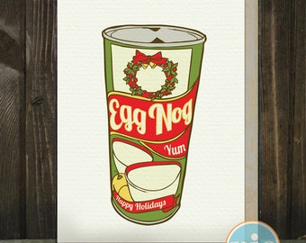 Egg Nog -- A Kitschy Holiday Card from The Nic Studio