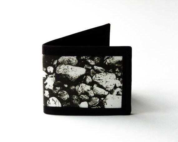 Vegan Friendly Billfold Wallet - Quabbin Rocks // Photo Fabric Collection
