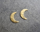 Crescent Moon Earrings, Gift for Woman, Cyber Monday Sale, Moon Phase, Moon Jewelry, Brass Studs, Sterling Silver Hypoallergenic (E215)