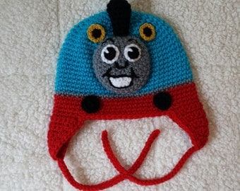 Thomas The Train Crocheted Hat - Baby, Toddler, Child, Teen or Adult Sizes