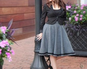 Miss Jane Grey's trimmed circle skirt ~ In heavyweight wool with satin lining and pockets